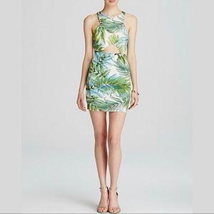 Lucy Paris Tropical Print Cutout Mini Dress Sz Med